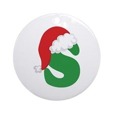 Christmas Letter S Alphabet Ornament (Round)