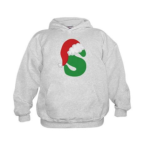 Christmas Letter S Alphabet Kids Hoodie