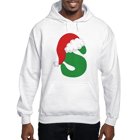 Christmas Letter S Alphabet Hooded Sweatshirt