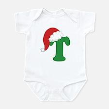 Christmas Letter T Alphabet Infant Bodysuit