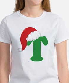 Christmas Letter T Alphabet Women's T-Shirt
