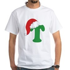 Christmas Letter T Alphabet Shirt