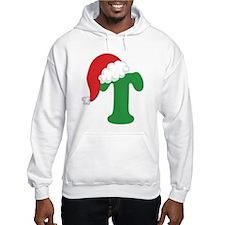 Christmas Letter T Alphabet Hoodie