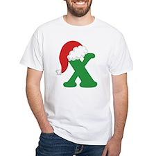 Christmas Letter X Alphabet Shirt