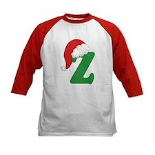 Christmas Letter Z Alphabet Tee