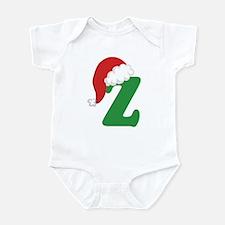 Christmas Letter Z Alphabet Infant Bodysuit