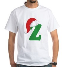 Christmas Letter Z Alphabet Shirt