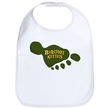 Baby Bib with foot logo.