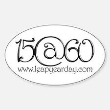 15@60 Sticker (Oval)