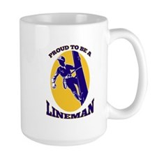 power lineman electrician Mug