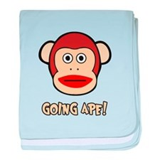 Sock Monkey Going Ape baby blanket