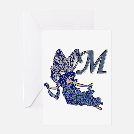 Cute Monogram m Greeting Card