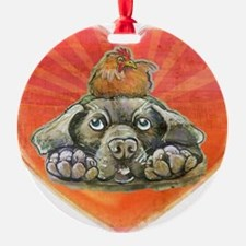 Cute Peace love labs Ornament