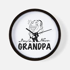 Smiling New Grandpa Wall Clock