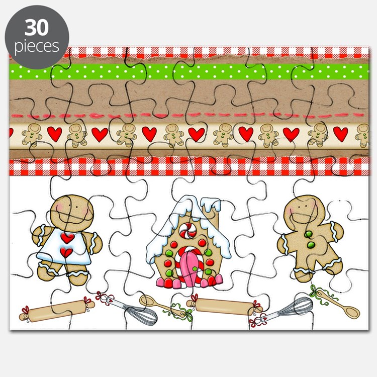 Gingerbread Love Christmas Puzzle