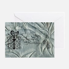 Silver Christmas Greeting Card