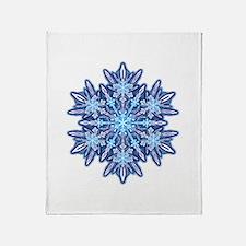 Snowflake 12 Throw Blanket