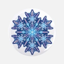 "Snowflake 12 3.5"" Button"