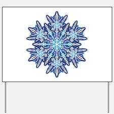 Snowflake 12 Yard Sign