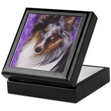 Cute Blue merle Keepsake Box