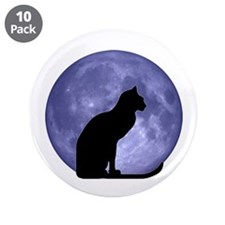 """Cat & Moon 3.5"""" Button (10 pack)"""