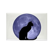 Cat & Moon Rectangle Magnet