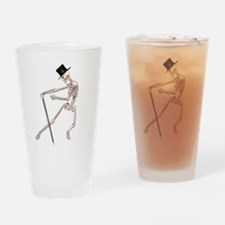 The Dancing Skeleton Drinking Glass
