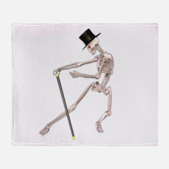 The Dancing Skeleton Throw Blanket