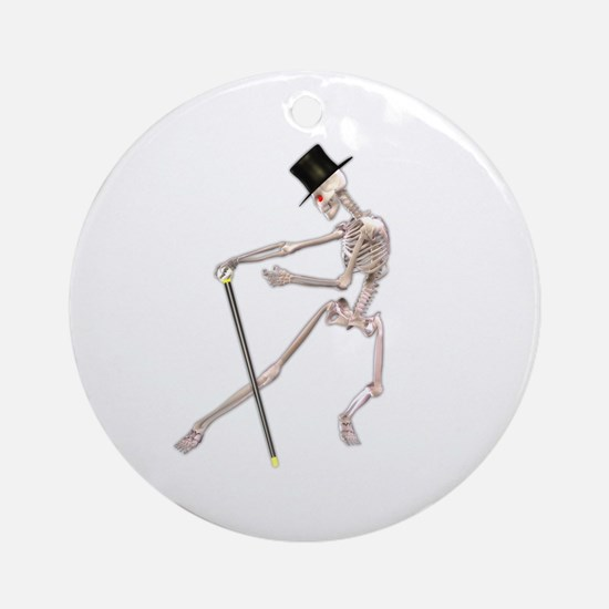 The Dancing Skeleton Ornament (Round)