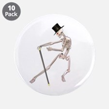 """The Dancing Skeleton 3.5"""" Button (10 pack)"""