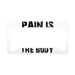 Cool fitness design License Plate Holder