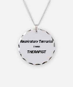 Cool Respiratory therapy Necklace Circle Charm