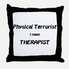 Unique Physical therapy Throw Pillow