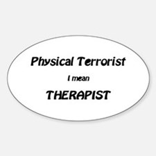 Cute Physical therapy Sticker (Oval)