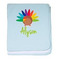 Alyson the Turkey baby blanket