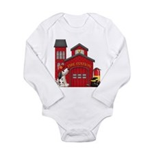 Fireman Long Sleeve Infant Bodysuit