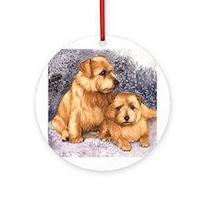 Norfolk Terrier Pair Ornament (Round)