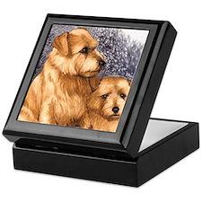 Norfolk Terrier Pair Keepsake Box