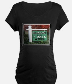 REAL ESTATE SIGN WHITE Maternity T-Shirt