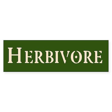Herbivore Sticker (Bumper)