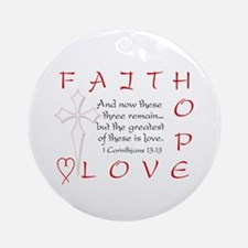 Greatest Is Love Ornament (Round)