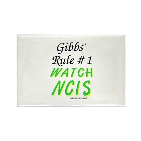 Gibbs' Rule 1 Watch NCIS Rectangle Magnet (100 pac