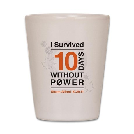 I Survived 10 Days Without Power Shot Glass