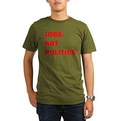 JOBS, NOT POLITICS Organic Men's T-Shirt (dark)