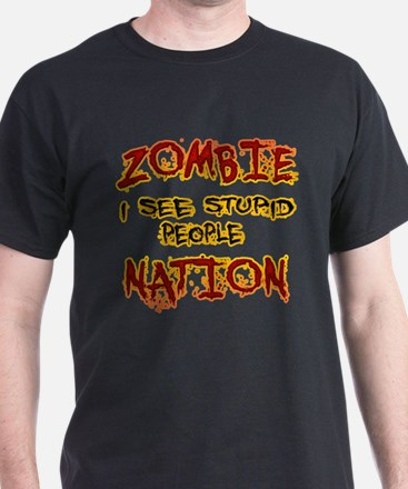 Zombie Nation I See Stupid People T-Shirt