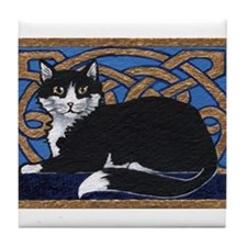 Celtic Kitty Tile Coaster