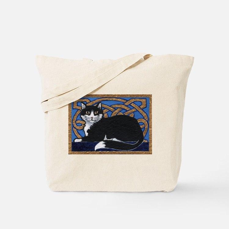 Celtic Kitty Tote Bag