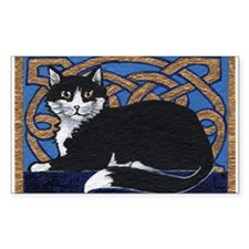 Celtic Kitty Rectangle Decal