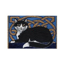 Celtic Kitty Rectangle Magnet