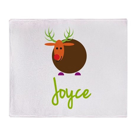 Joyce the Reindeer Throw Blanket